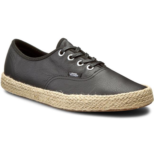 Espadrilles VANS  Authentic Espadrille VN0004KQL3A Leather Black