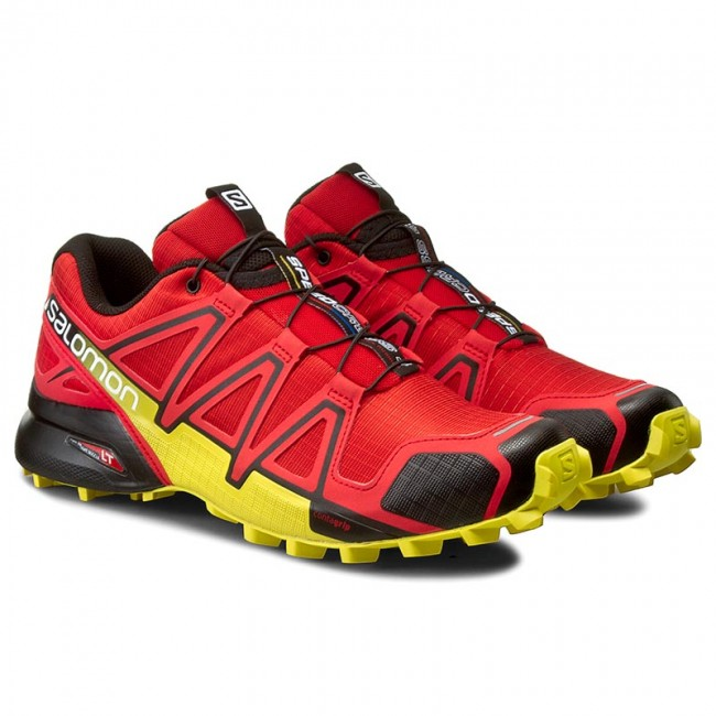 Shoes SALOMON Speedcross 4 381154 27 V0 Radiant RedBlackCorona Yellow