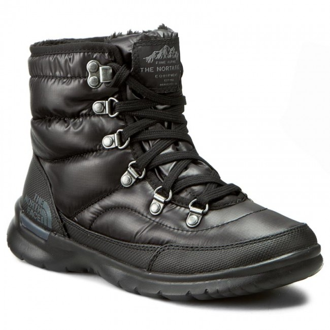 Snow Boots THE NORTH FACE - Thermoball Lace II T92T5LNSW Shiny TNF Black/Iron  Gate