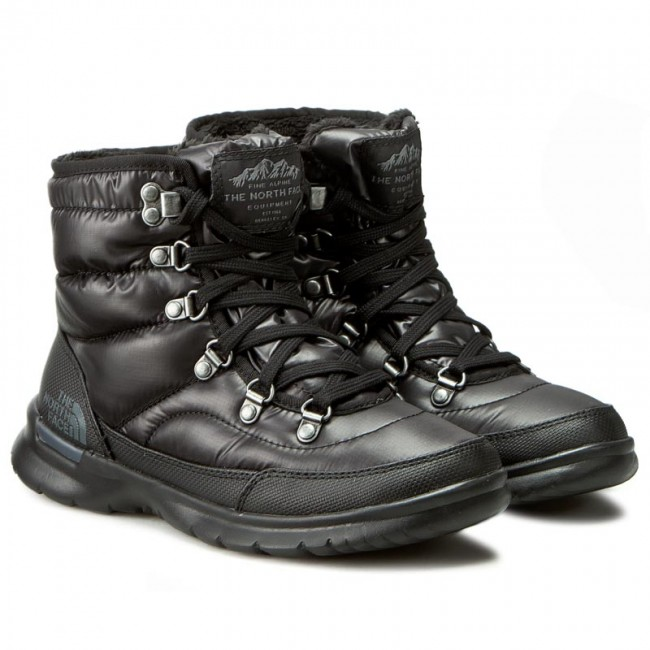 2354ded4 Snow Boots THE NORTH FACE - Thermoball Lace II T92T5LNSW Shiny TNF Black/Iron  Gate Grey - Winter boots - High boots and others - Women's shoes -  efootwear. ...