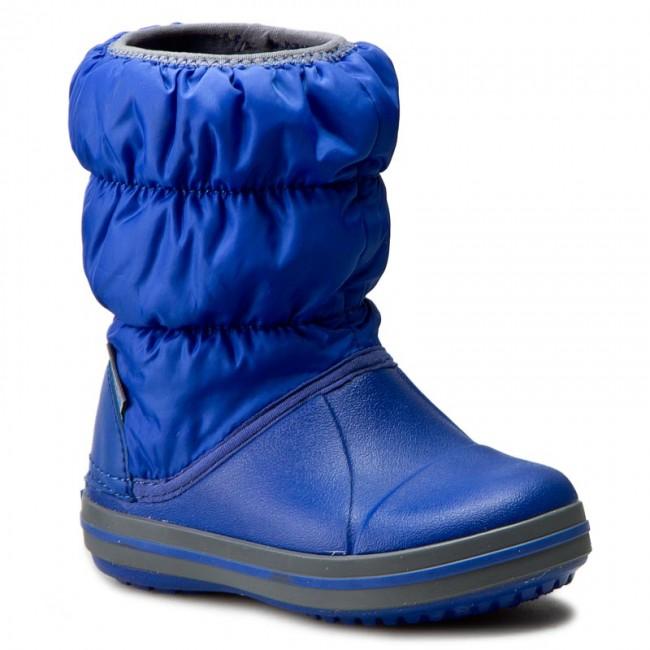 e2d8ff4b3d84a2 Snow Boots CROCS - Winter Puff Boot Kids 14613 Cerulean Blue Light ...
