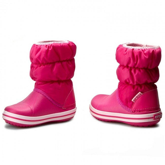 1b67be815e791 Snow Boots CROCS - Winter Puff Boot Kids 14613 Candy Pink - Trekker ...