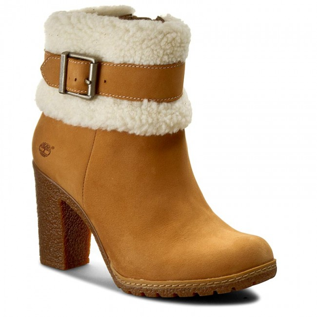 5491b37f5240 Boots TIMBERLAND - Glancy Teddy Fold Do A19B2 Wheat - Boots - High ...