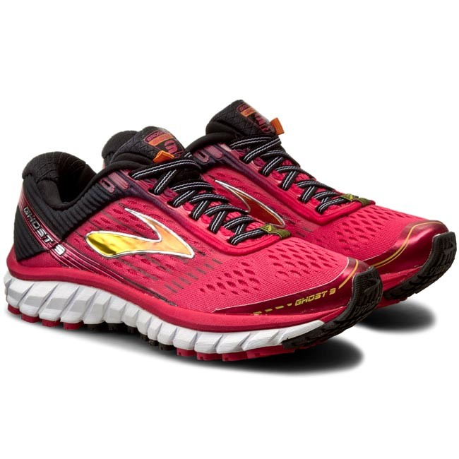 0884108c5d5ca Shoes BROOKS - Ghost 9 120225 1B 661 Azalea Black Cyber Yellow - Indoor - Running  shoes - Sports shoes - Women s shoes - www.efootwear.eu