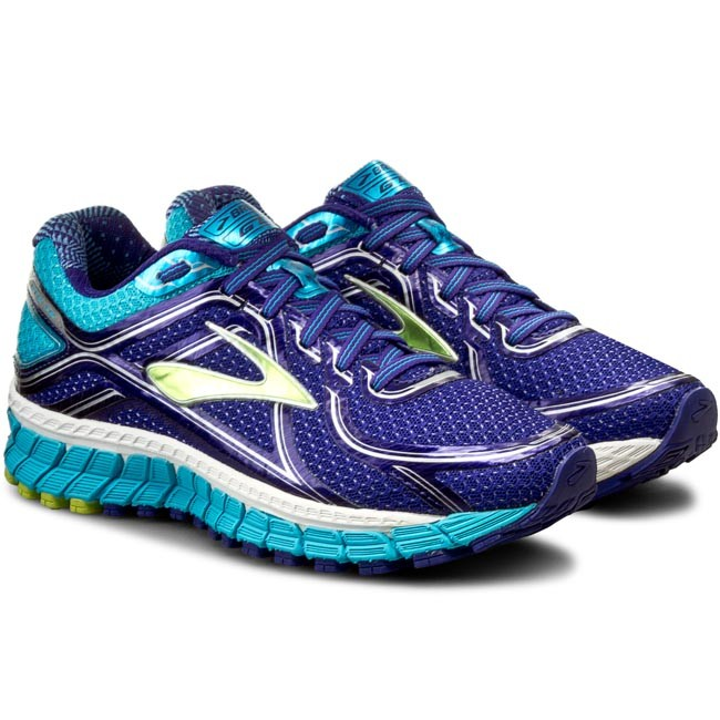 Women Running Shoes Brooks Women Spectrum Blue / Lime Punch / Blue Atoll Shoes Online