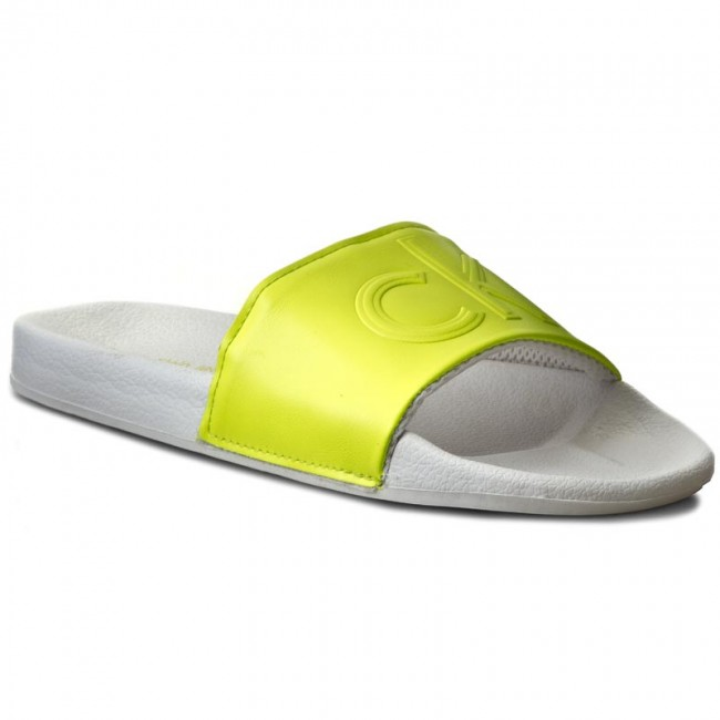 059f4a3b14 Slides CALVIN KLEIN JEANS - Victor SE8527 Yellow Flu - Clogs and ...