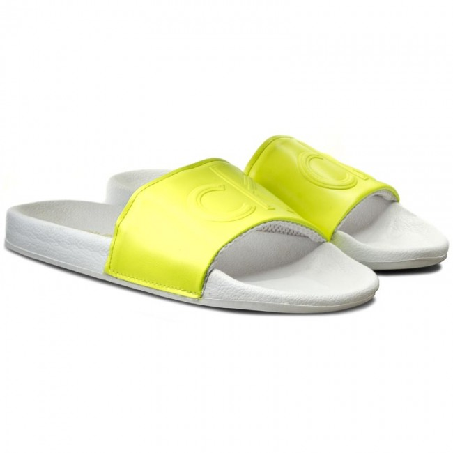 836977a1a6 Slides CALVIN KLEIN JEANS - Victor SE8527 Yellow Flu - Clogs and mules -  Mules and sandals - Men s shoes - www.efootwear.eu
