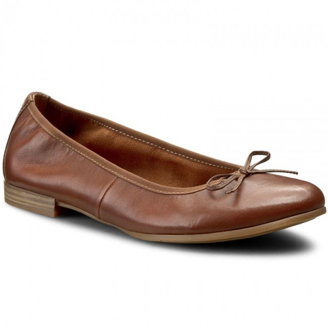 Flats TAMARIS  12211628 Cognac 305  Ballerina shoes  Low shoes  Womens shoes       0000199001222