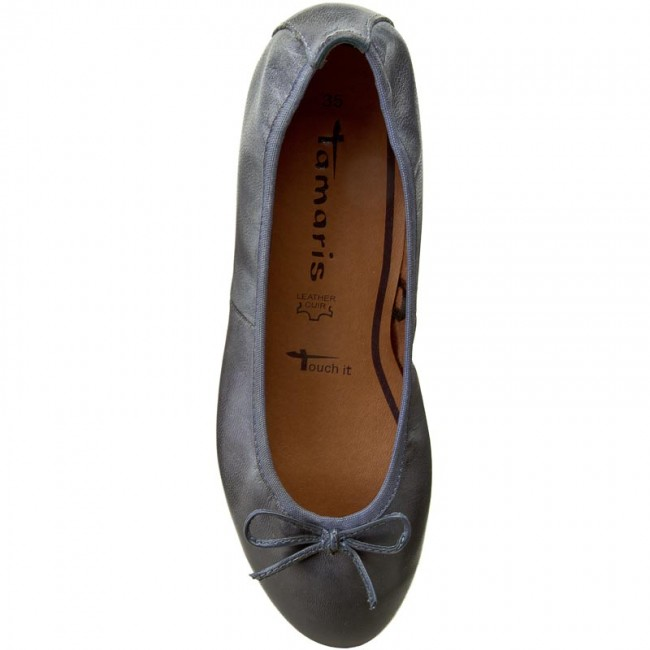 1 28 Ballerina Shoes Tamaris 22116 Denim Low 802 Flats JT1cFKul3