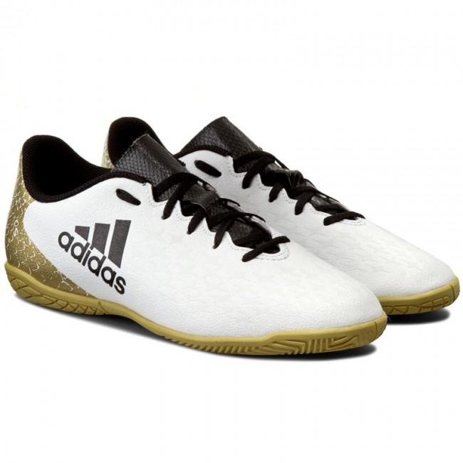 ab3ada672 Shoes adidas - X 16.4 In J AQ4358 Ftwwht Cblack Goldmt - Laced shoes - Low  shoes - Boy - Kids  shoes - www.efootwear.eu