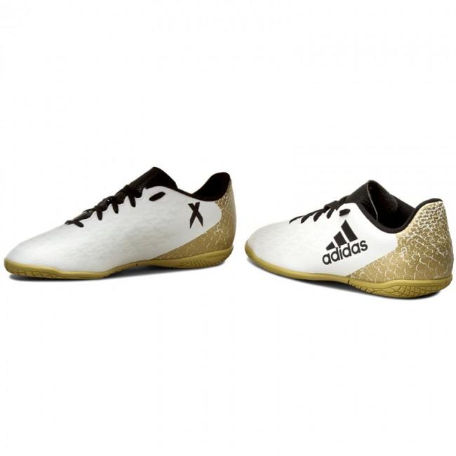 ba54aabb9 Shoes adidas - X 16.4 In J AQ4358 Ftwwht Cblack Goldmt - Laced shoes ...