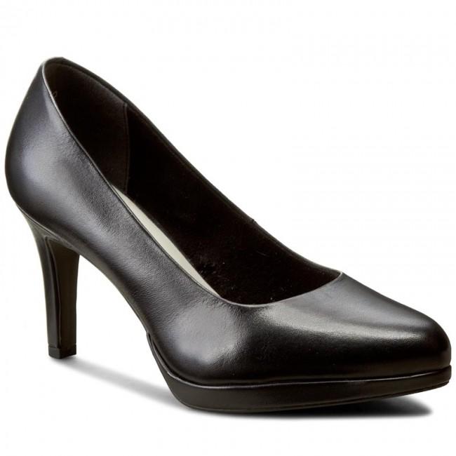 be508602c70f04 Shoes TAMARIS - 1-22428-28 Black Leather - Heels - Low shoes ...