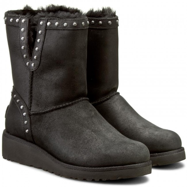 Shoes UGG - W Cyd Leather 1013854 W/Blk - UGG - High boots and others - Women's shoes - www.efootwear.eu