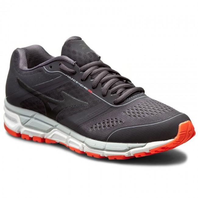 Athletic Mizuno Synchro MX Performance Running Shoe - Womens Grey/Coral