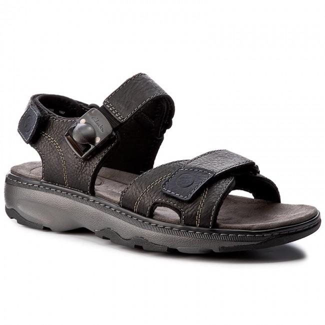 fdd3be25af43 Sandals CLARKS - Raffe Sun 261176667 Black Leather - Sandals - Mules ...