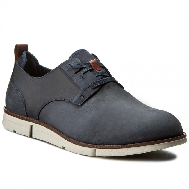 a70fd8c66bf Shoes CLARKS - Trigen Lace 261237407 Navy Nubuck - Casual - Low ...
