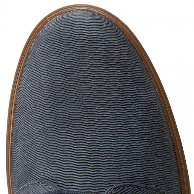 Shoes CLARKS Calderon Lace 261238437 Navy Leather