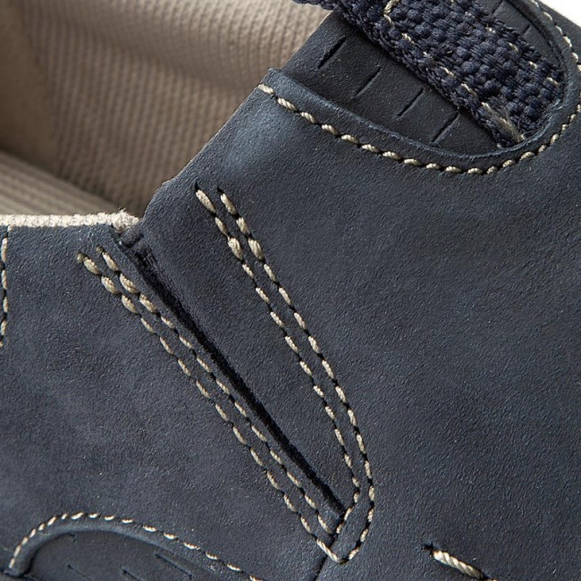 5bc0cefd462c Shoes CLARKS - Orson Row 261259567 Navy Nubuck - Casual - Low shoes ...
