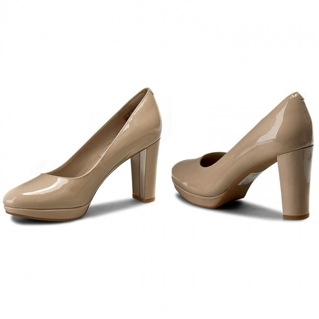 Shoes CLARKS - Kendra Sienna 261227934 Nude Patent - Heels - Low ... e709c1999