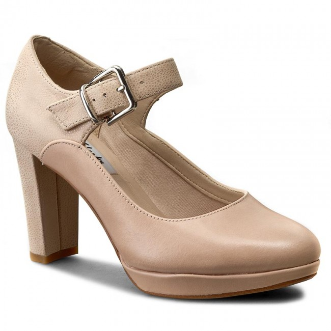 Kendra 261227984 Heels Nude Low Combi Shoes Gaby Clarks zRtqUUx