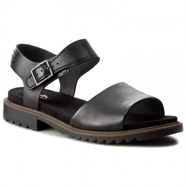 cacb9835c485 Sandals CLARKS - Ferni Fame 261228844 Black Leather - Casual sandals ...