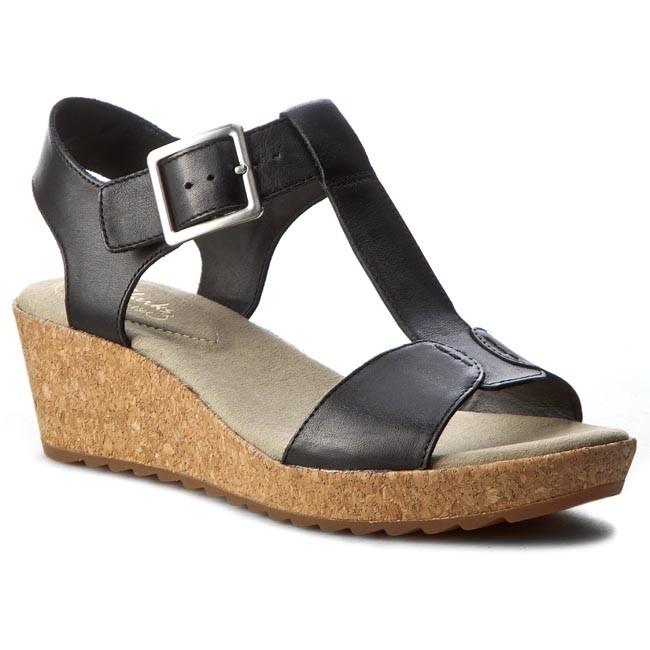 b80ff98f9d66 Sandals CLARKS - Kamara Kiki 261229104 Black Leather - Casual ...