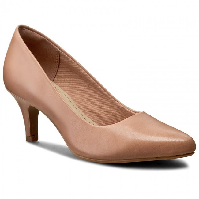 Shoes CLARKS - Isidora Faye 261230254 Dusty Pink Leather