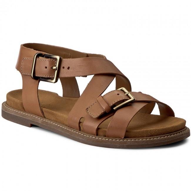 c4eaaf64dc6 Sandals CLARKS - Corsio Bambi 261231244 Light Tan Lea - Casual ...