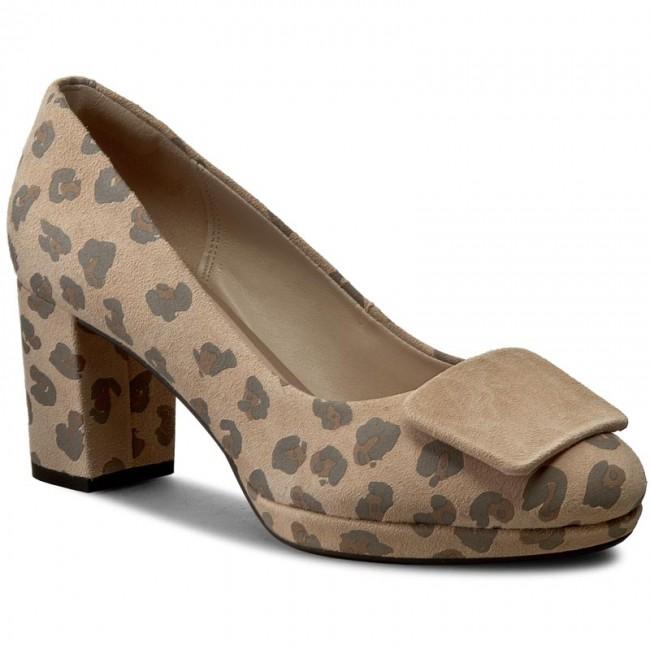 636d20e07bdd Shoes CLARKS - Kelda Gem 261235584 Leopard Print - Heels - Low shoes ...