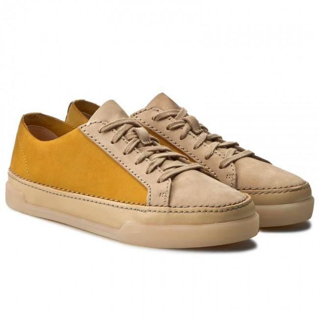 Clarks Hidi Holly, Sneakers Basses Femme, Vert (Khaki Nubuck), 37.5 EU