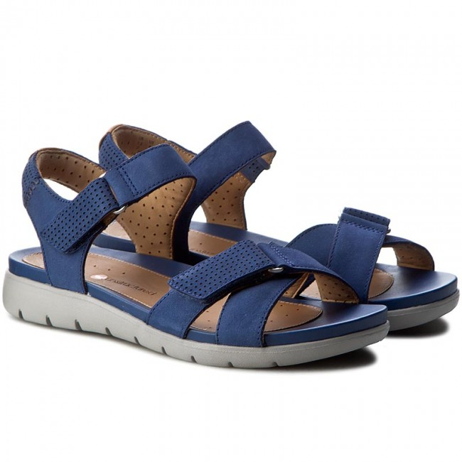 a20ac3ce47b0 Sandals CLARKS - Un Saffron 261240614 Dark Blue Nubuck - Casual sandals -  Sandals - Mules and sandals - Women s shoes - www.efootwear.eu