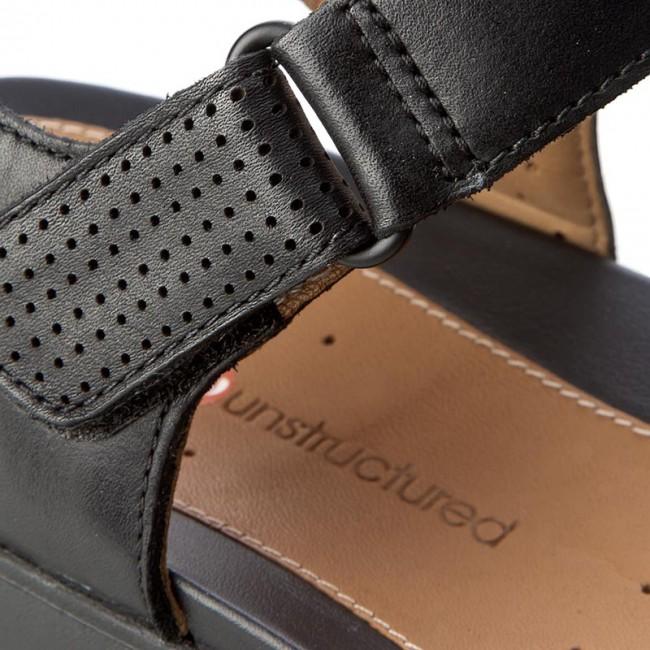 e86807e0cbf Sandals CLARKS - Un Saffron 261240634 Black Leather - Casual sandals ...