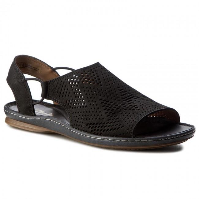 Sandals CLARKS - Sarla Cadence 261240884 Black Nubuck - Casual ... 122c10e34d7