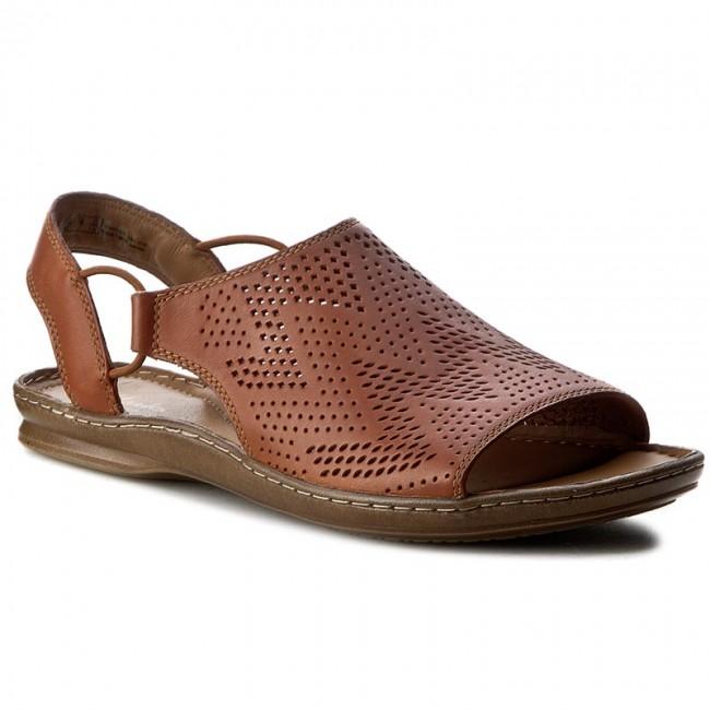 4b05ea8e5930 Sandals CLARKS - Sarla Cadence 261240934 Tan Leather - Casual ...