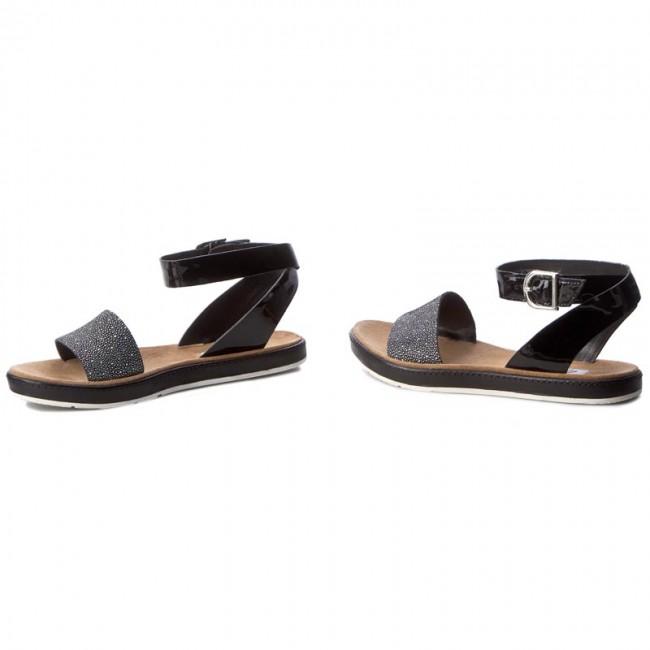 6471de67d Sandals CLARKS - Romantic Moon 261241414 Black Combi Leather ...