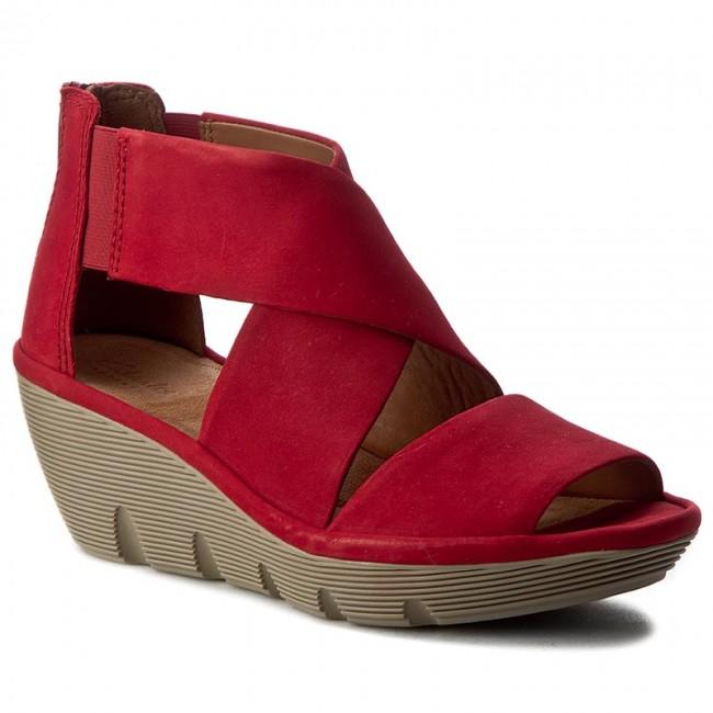c374b18c86e5 Sandals CLARKS - Clarene Glamor 261242794 Red Nubuck - Casual ...