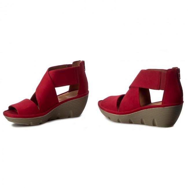 c691842d8da2 Sandals CLARKS - Clarene Glamor 261242794 Red Nubuck - Casual ...