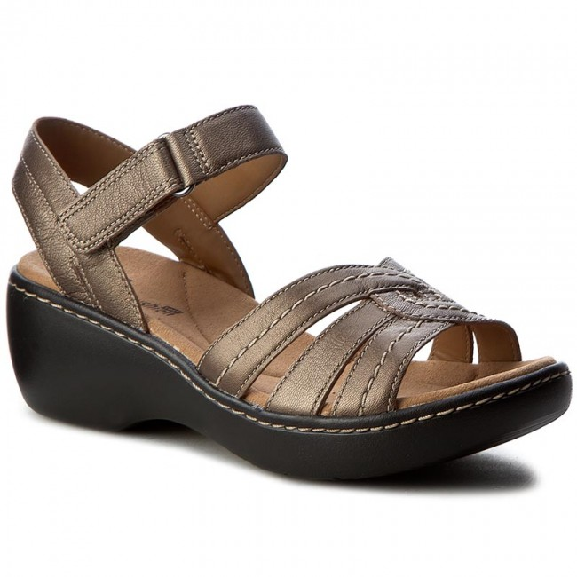 99ea3277421 Sandals CLARKS - Delana Varro 261257144 Pewter Leather - Casual ...