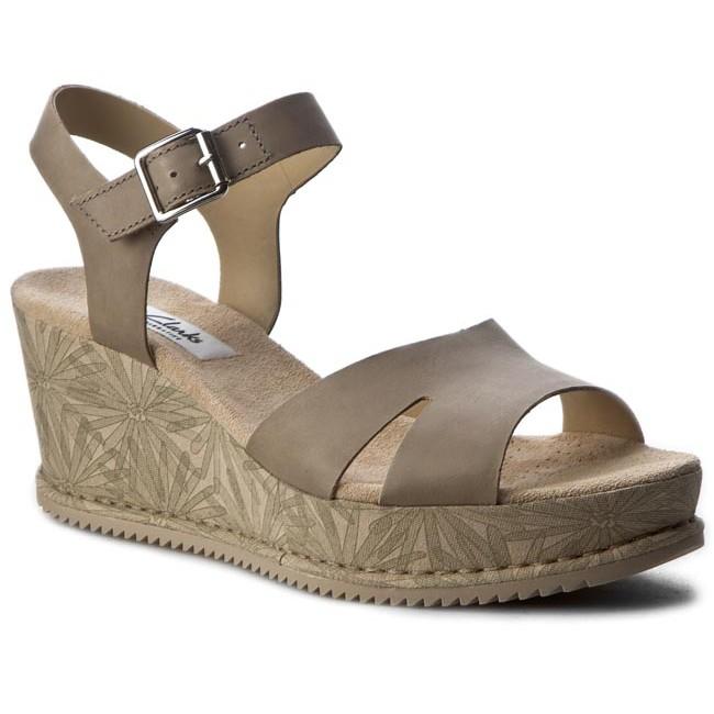 e132a570c612 Sandals CLARKS - Akilah Eden 261258554 Sage Nubuck - Casual sandals ...