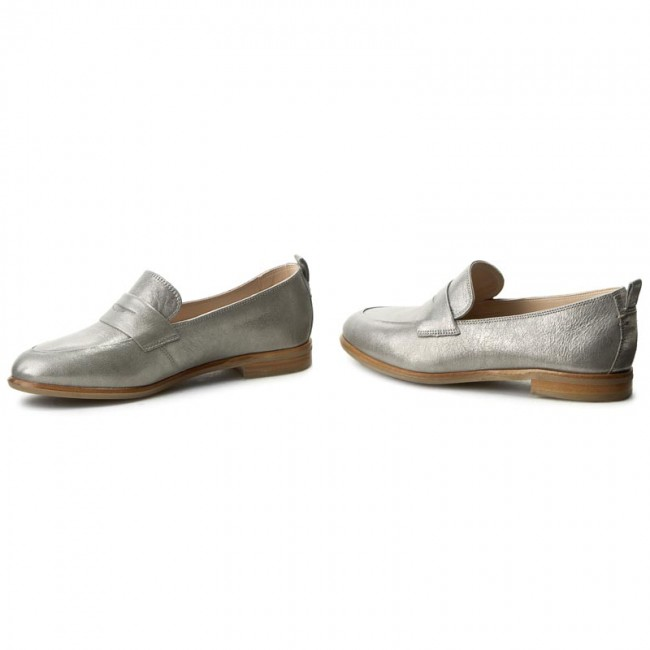 37f051fe0d4 Shoes CLARKS - Alania Belle 261258574 Silver Metallic - Flats - Low ...