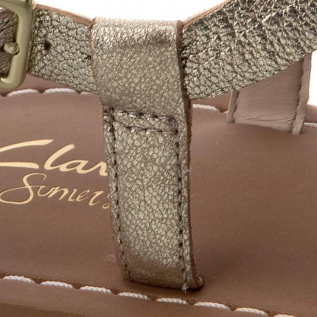 Sandals CLARKS Voyage Hop 261259854 Champagne