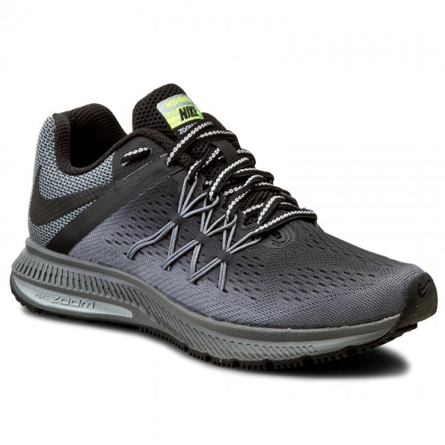 Shoes NIKE. W Nike Zoom Winflo 3 Shield 852444 001 Black/Black/Cool Grey/ Wolf Gry