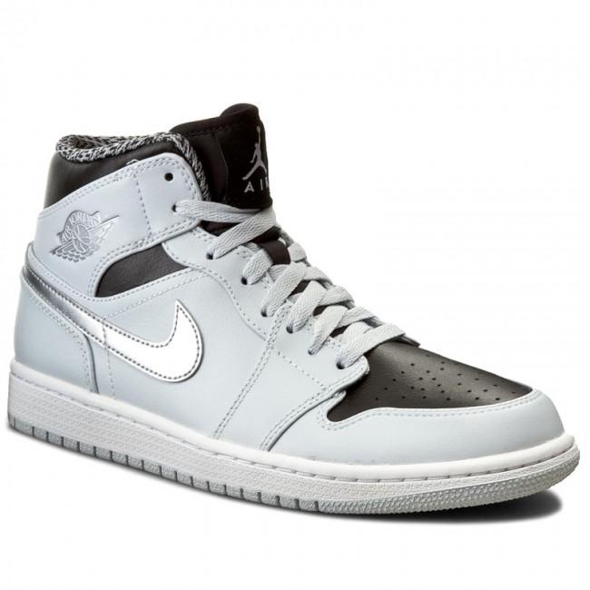 promo code c54ed c96b5 Shoes NIKE - Air Jordan 1 Mid 554724 032 Platine Pur Argent Metallique