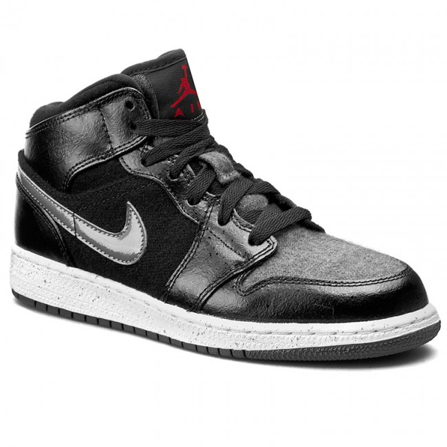 Shoes NIKE - Air Jordan 1 Mid Prem Bg 852548 002 Black Gym Red Dark ... 4ee240673