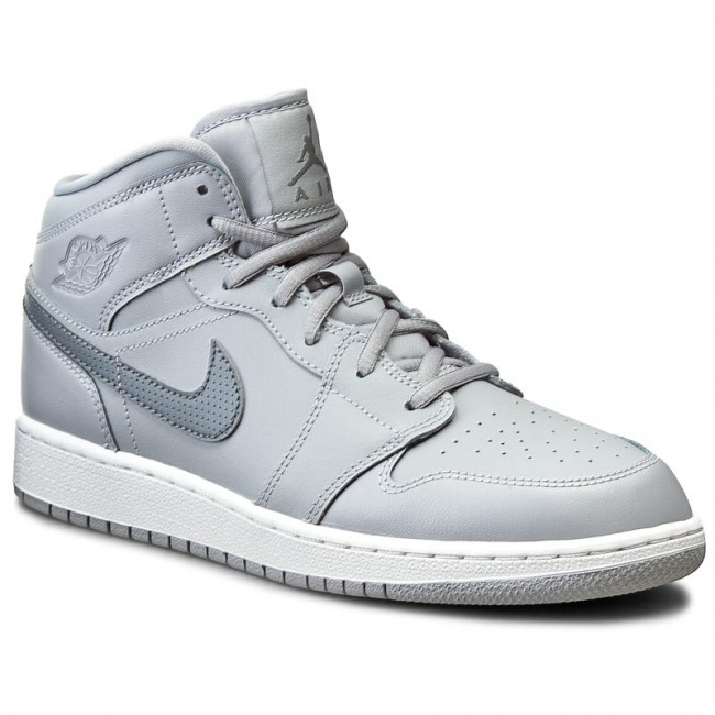 official photos 4527d fbe50 ... germany shoes nike air jordan 1 mid bg 554725 033 wolf grey cool grey  aea5d cb091