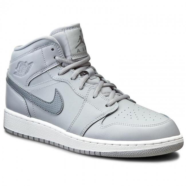 fb19e188351 ... germany shoes nike air jordan 1 mid bg 554725 033 wolf grey cool grey  aea5d cb091