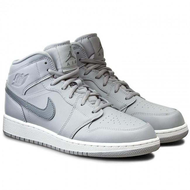 cc34800d3d7 Shoes NIKE - Air Jordan 1 Mid Bg 554725 033 Wolf Grey Cool Grey White -  Sneakers - Low shoes - Women s shoes - www.efootwear.eu