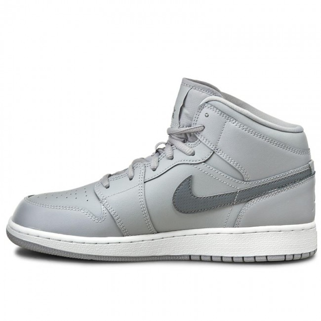 Shoes NIKE - Air Jordan 1 Mid Bg 554725 033 Wolf Grey Cool Grey White -  Sneakers - Low shoes - Women s shoes - www.efootwear.eu eb01621948c