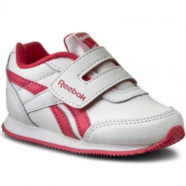 reebok velcro. shoes reebok - royal cljog 2 kc v70479 white/fearless pink velcro