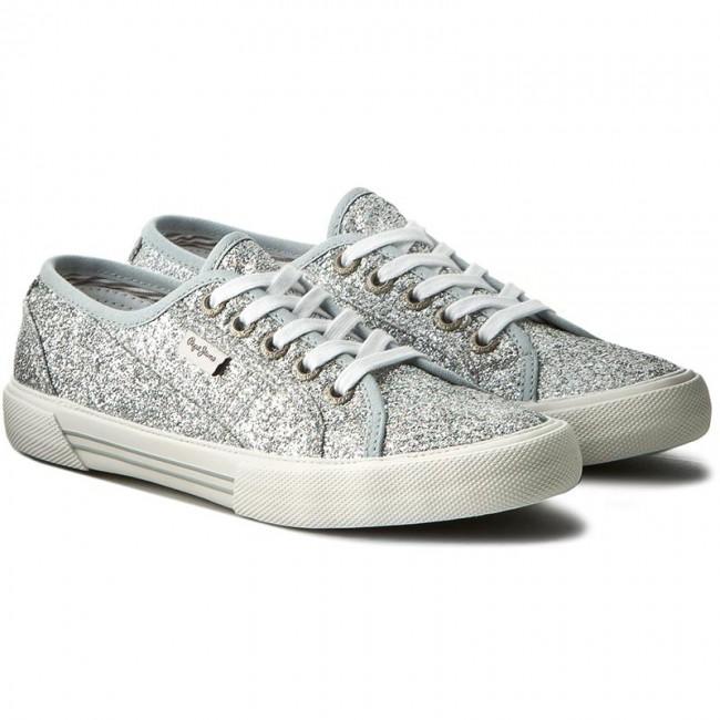 d22bf1ea9ac Plimsolls PEPE JEANS - Aberlady Flash PLS30498 Silver 934 - Sneakers - Low  shoes - Women s shoes - www.efootwear.eu